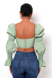 Frida Crop Top - Sage