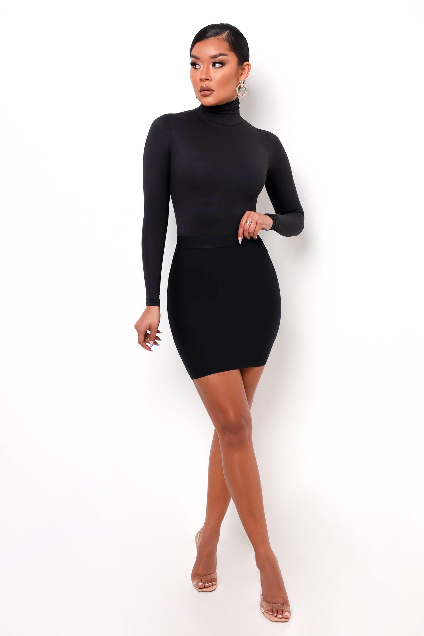 Perfect Bandage Mini Skirt - Black