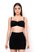 Lucia Two Piece Skirt Set - Black