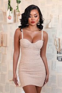 Tiffany Bandage Mini Dress - Nude