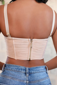 Tiffany Crop Top - Nude