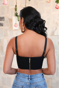 Tiffany Crop Top - Black