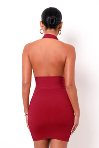 Hourglass Bandage Mini Dress - Red