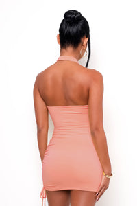 Penelope Mini Dress - Peach