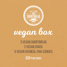 Load image into Gallery viewer, Vegan Crack, Vegan Cookies & Vegan Shortbread STASH BOX