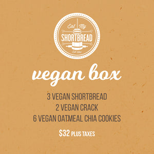 Vegan Crack, Vegan Cookies & Vegan Shortbread STASH BOX