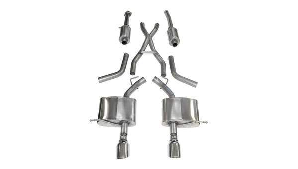 "Corsa Performance - Dual Rear Exit Cat-Back Exhaust System with 4.5"" Tips - 2011-19 Durango 5.7 - 14459"