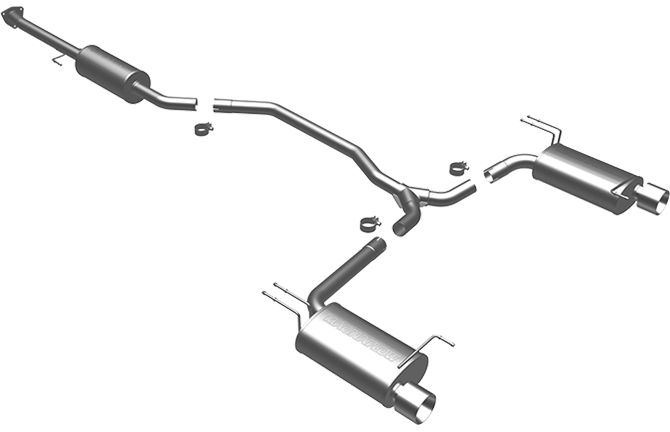 Magnaflow - Dual Catback Exhaust - 2008-12 Accord V6 Coupe - 16817