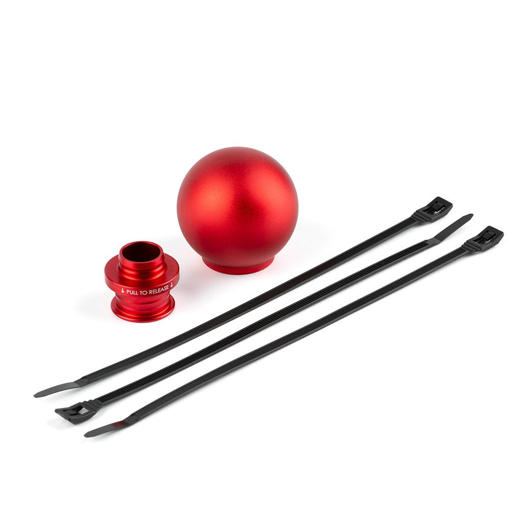 ACUiTY Instruments - POCO Low-Profile Shift Knob in Satin Red Anodized Finish - 1925-RD