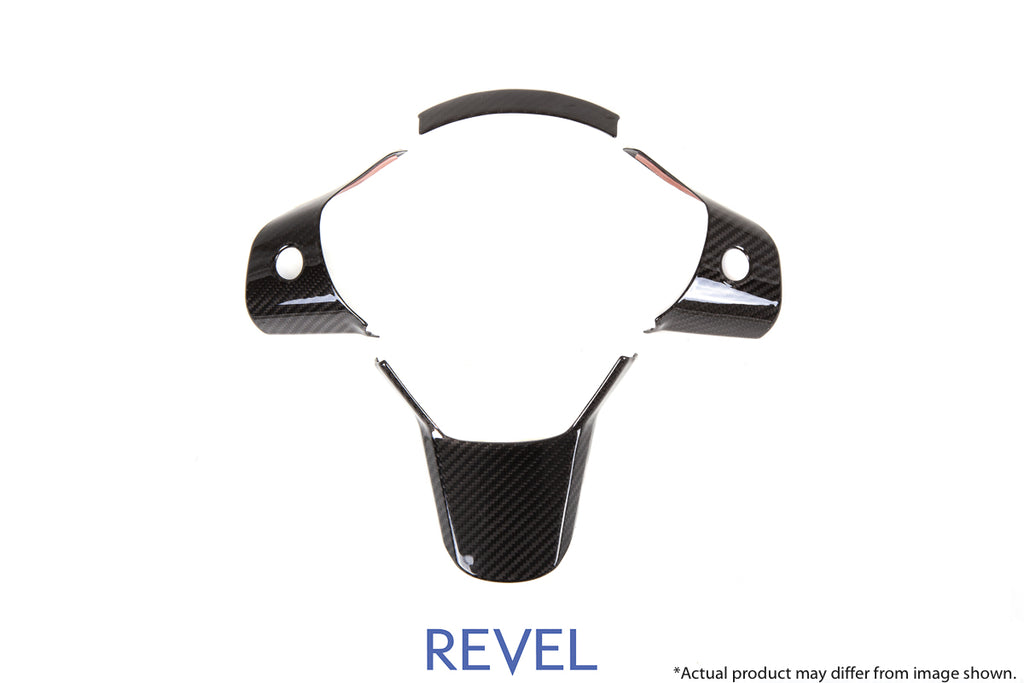 Revel USA - GT Dry Carbon Steering Wheel Insert Covers - 16+ Model 3 - 1TR4GT1AX01