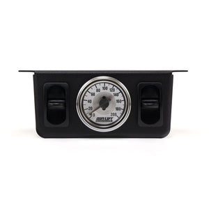 Dual Needle Air Gauge; 200 PSI; w/Switch Panel;
