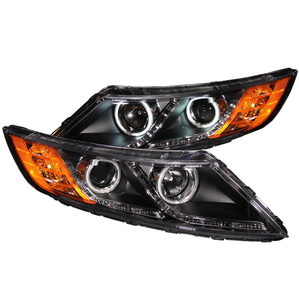 ANZO USA - Projector Headlights BLACK w/ Halo (CCFL) - Kia Optima 11-13 (excl Hybrids) - 121460