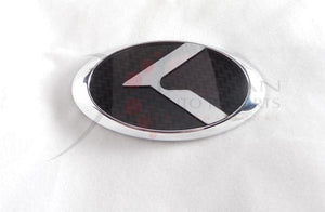 "LODEN Carbon/Stainless ""K"" Steering Wheel Full Replacement Emblem"