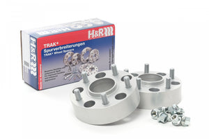 H&R TRAK+ Wheel Spacers - Pair - DRM Series - 25mm 5x114.3 / 64.1 / 12x1.5 - 5065640 - BLACK