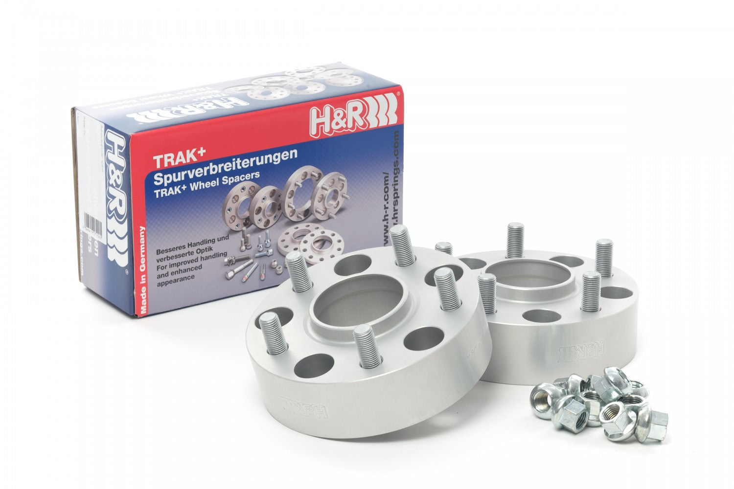 H&R TRAK+ Wheel Spacers - Pair - DRM Series - 25mm 5x114.3 / Center Bore 66.1 / Stud Thread 12x1.25 - 5065661