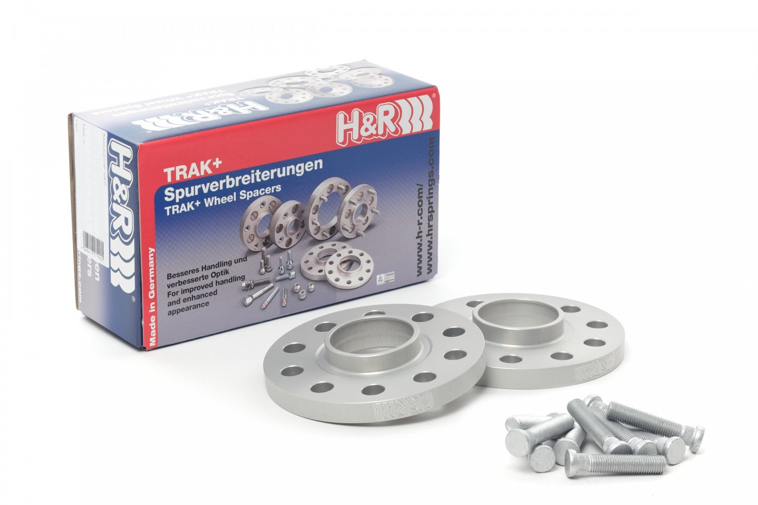 H&R TRAK+ Wheel Spacers - Pair - DRS Series - 15mm 5x114.3 / 64.1 / 12x1.5 - 3065640 - SILVER