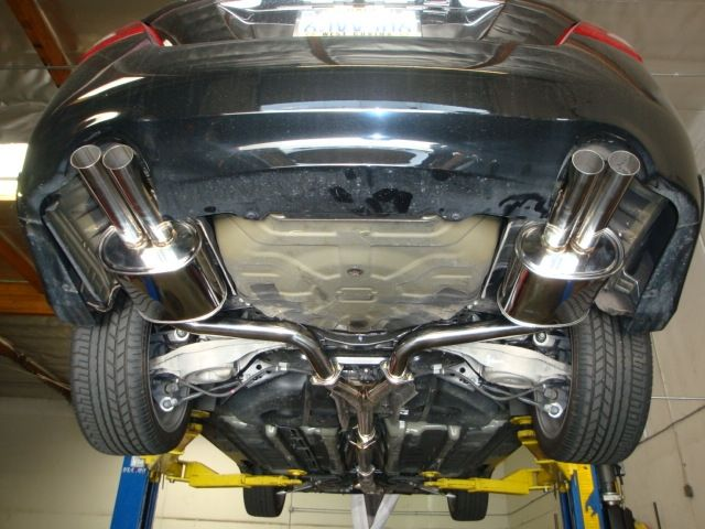 Megan Racing - Type2 Catback System w/ Stainless Rolled Tips - Nissan Maxima 2009-14 - MR-CBS-NM09-T2-RL + MR-CBS-NM09-T2-RR + MR-CBS-NM09-M