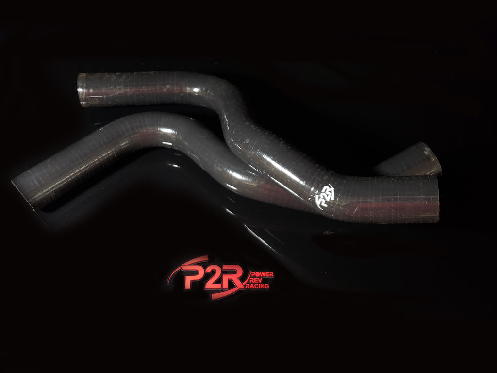P2R PowerRevRacing - BLACK Silicone Radiator Hoses - 2017+ Civic Type R FK8 - RHK001B