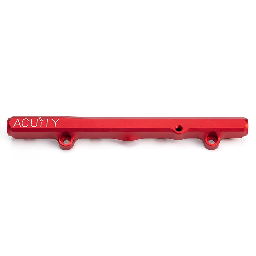 ACUiTY Instruments - K-Series Fuel Rail in Satin Red Finish - 1913-RED