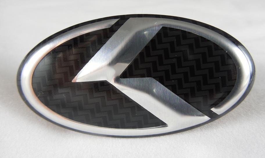 "LODEN Carbon/Stainless ""K"" Steering Wheel Overlay Emblem"