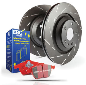 EBC Brakes - EBC S4 Kits Redstuff Ceramic Sport Brake Pads + Black USR Rotors - REAR KIT - S4KR1508
