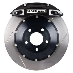 "Stoptech 328mm / 12.9"" FRONT Big Brake Kit w/ SLOTTED Rotors & BLACK ST-40 Calipers - 2003-12 Accord / 2009-14 TSX - 83.436.4300.51"