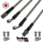Techna-Fit Stainless Steel Brake Lines - 2009+ Nissan 370Z w/ Brembo Sport Suspension - Front & Rear - NIS-1400