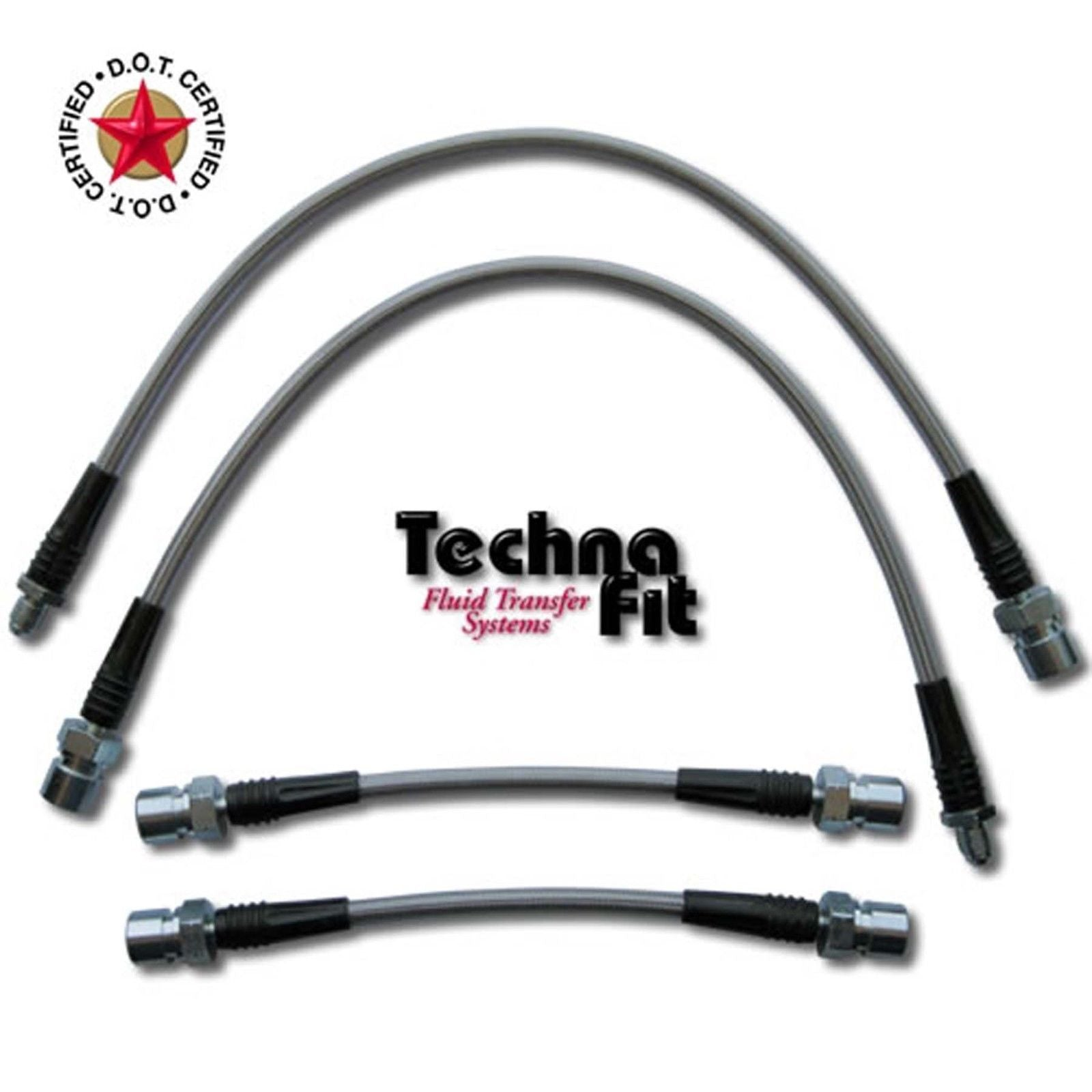 Techna-Fit Stainless Steel Brake Lines - 2009-15 Nissan Maxima - Front & Rear - NIS-1160