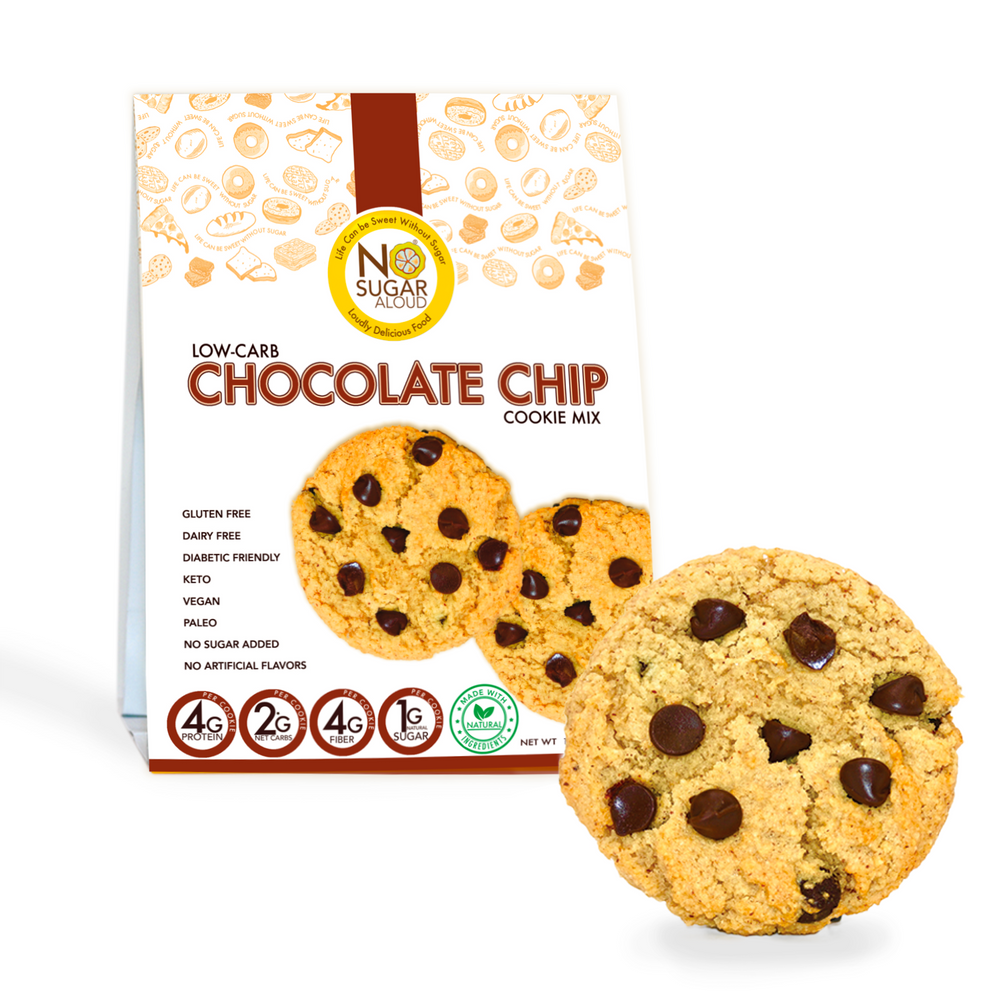 Chocolate Chip Cookie Mix (Keto, Vegan & Diabetic Friendly)