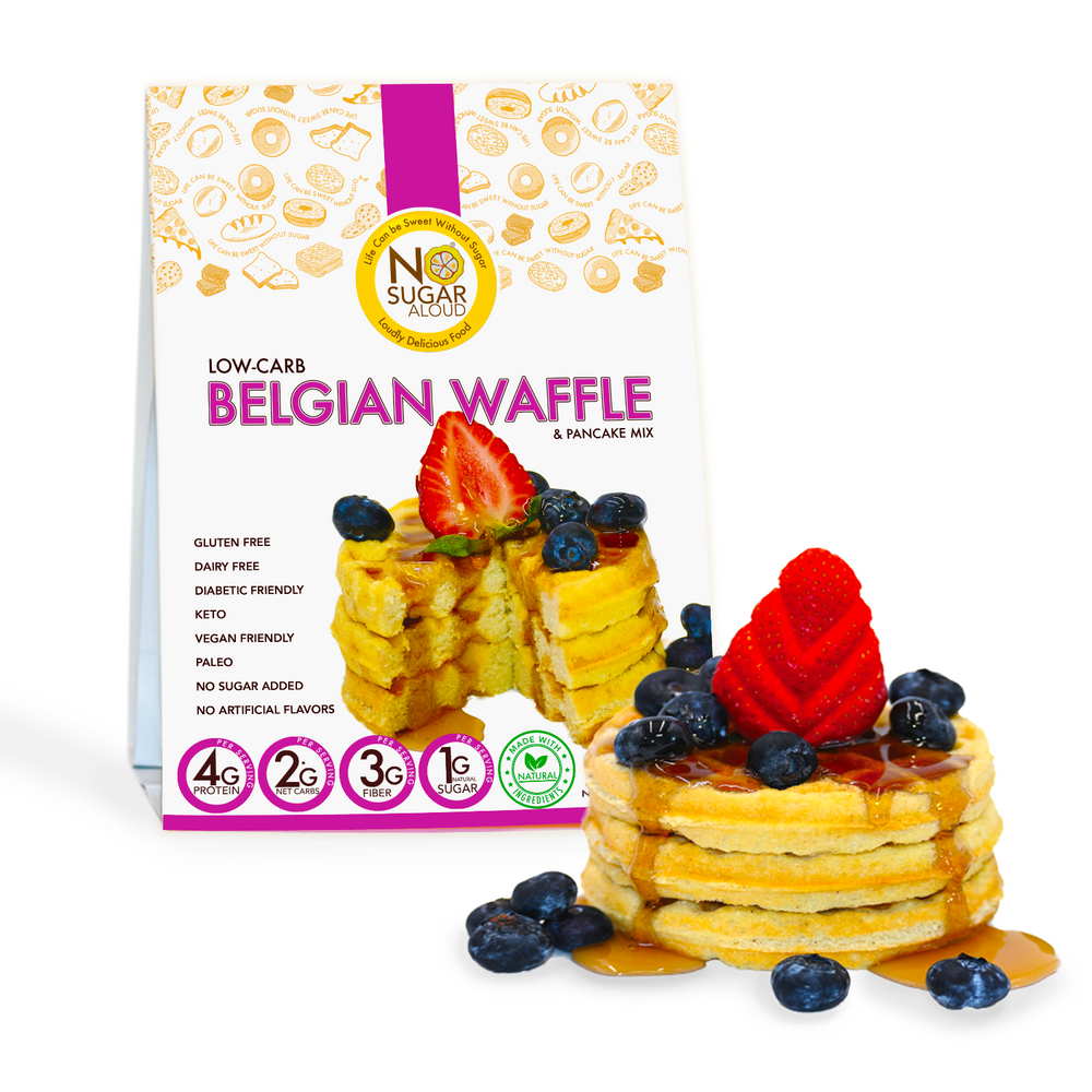 Belgian Waffle/Pancake Mix (Keto, Vegan & Diabetic Friendly)