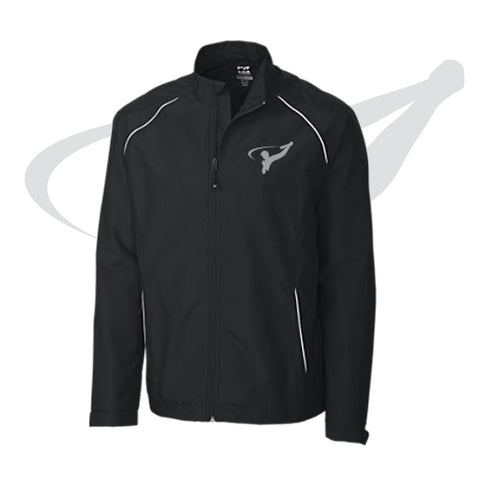 MENS CUTTER & BUCK FULL ZIP - BLACK