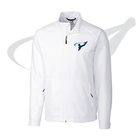 MENS CUTTER & BUCK FULL ZIP - WHITE