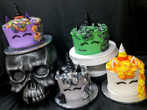 Order - Halloween Unicorn Cakes!