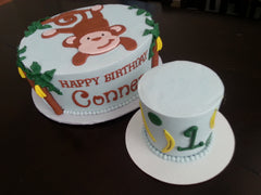 Monkey 1st Birthday Cake, Smash Cake