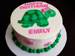 Turtle Birthday Cake