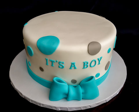 Bow Baby Shower Cake