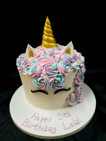 Pink Blue Purple Unicorn Cake