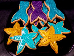 Mermaid Tail and Starfish Cookies