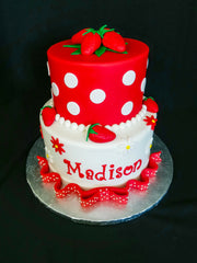 Strawberry Themed Cake
