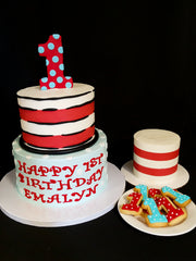 Dr. Seuss Cake, Smash Cake, & Cookies