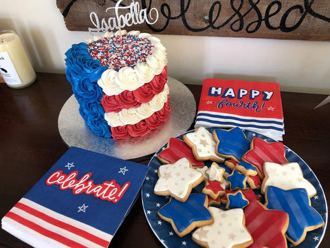 Red, White, Blue Cake & Cookies