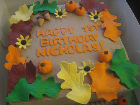 Fall Themed 1st Birthday Cake