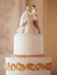 Cinderella Topper Wedding Cake