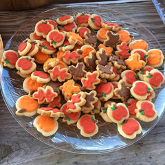 fall and apple cookies