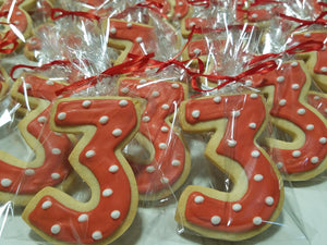 Number or Letter Cookies (1 Dozen)