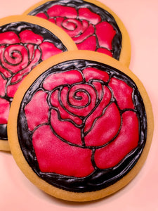 Rose Mosaic Cookies