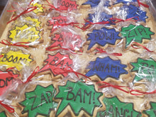 Superhero Comic Book Burst Cookies