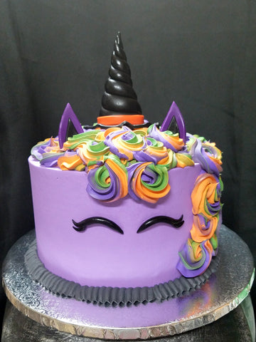 Uni Witch Halloween Unicorn Cake