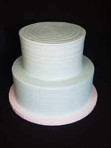 Rustic Iced Wedding Cake (2-tier)