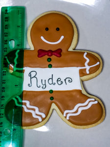 Personalized Gingerbread Boy/Girl Cookie (Jumbo)